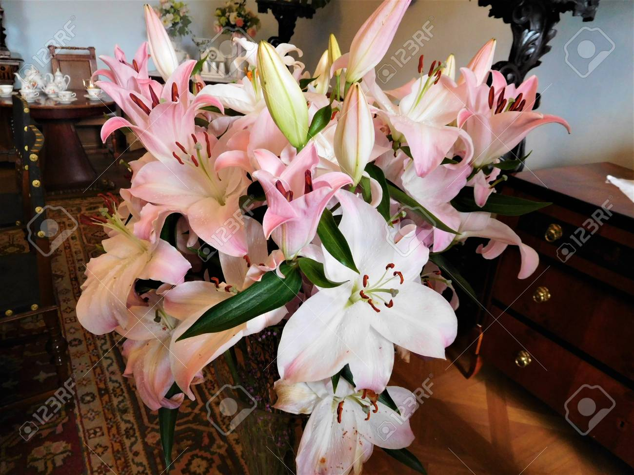 Beautiful Bouquet For Decoration At Home Or Ideal Flowers For