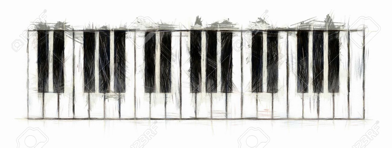 Piano Keyboard Drawing Stock Photo Picture And Royalty Free Image Image 9653982