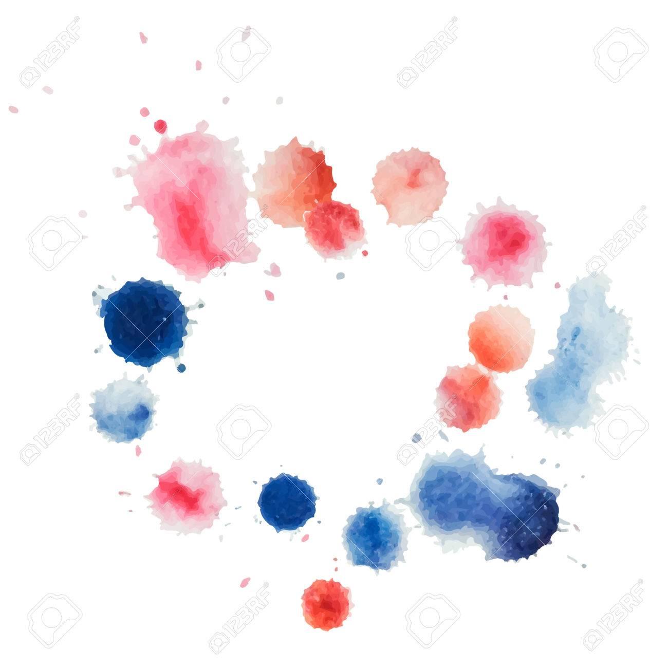 Abstrakt Aquarell Vorlage Hand Farbe Auf Weißem Hintergrund. Vector ...
