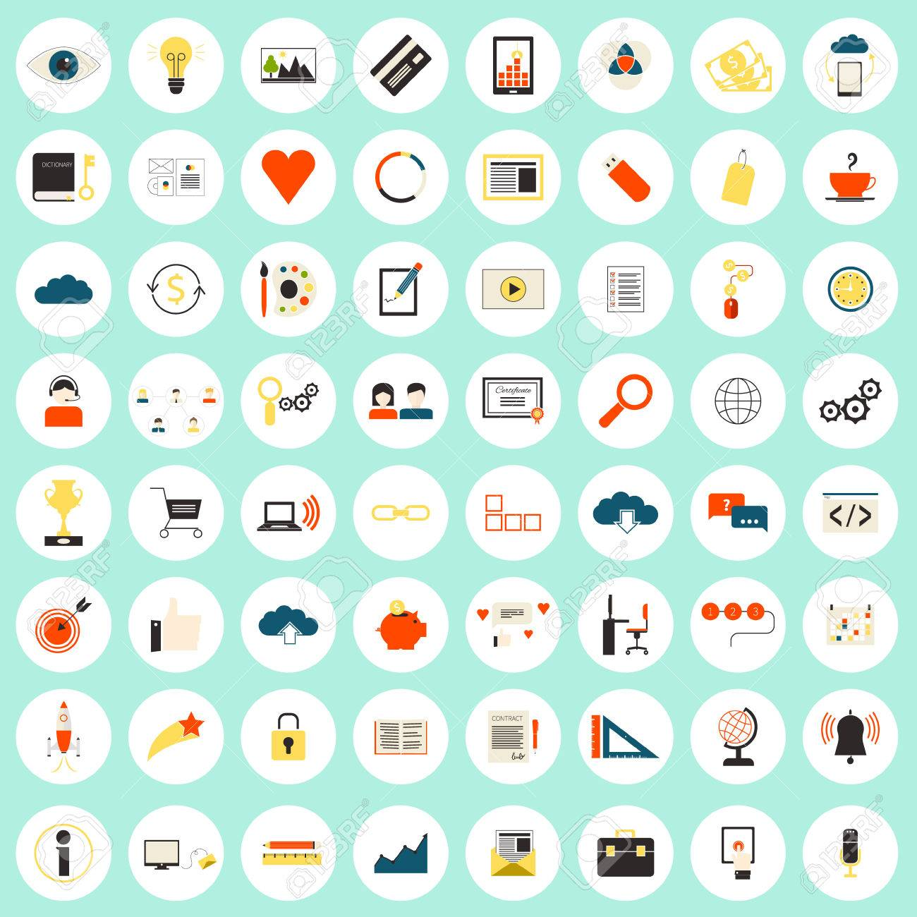 Really big set of 64 modern flat icons on seo and internet usage really big set of 64 modern flat icons on seo and internet usage search optimization biocorpaavc Choice Image