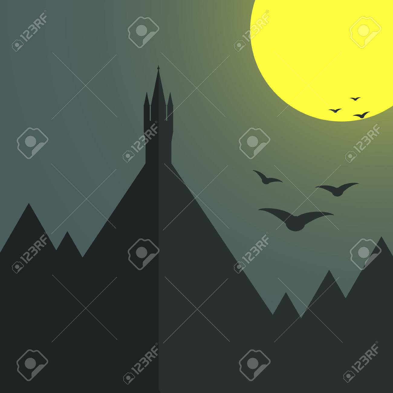 100 celestial template halloween creepy spider walk and celestial template castle standing alone on the top of the mountain moon light pronofoot35fo Image collections