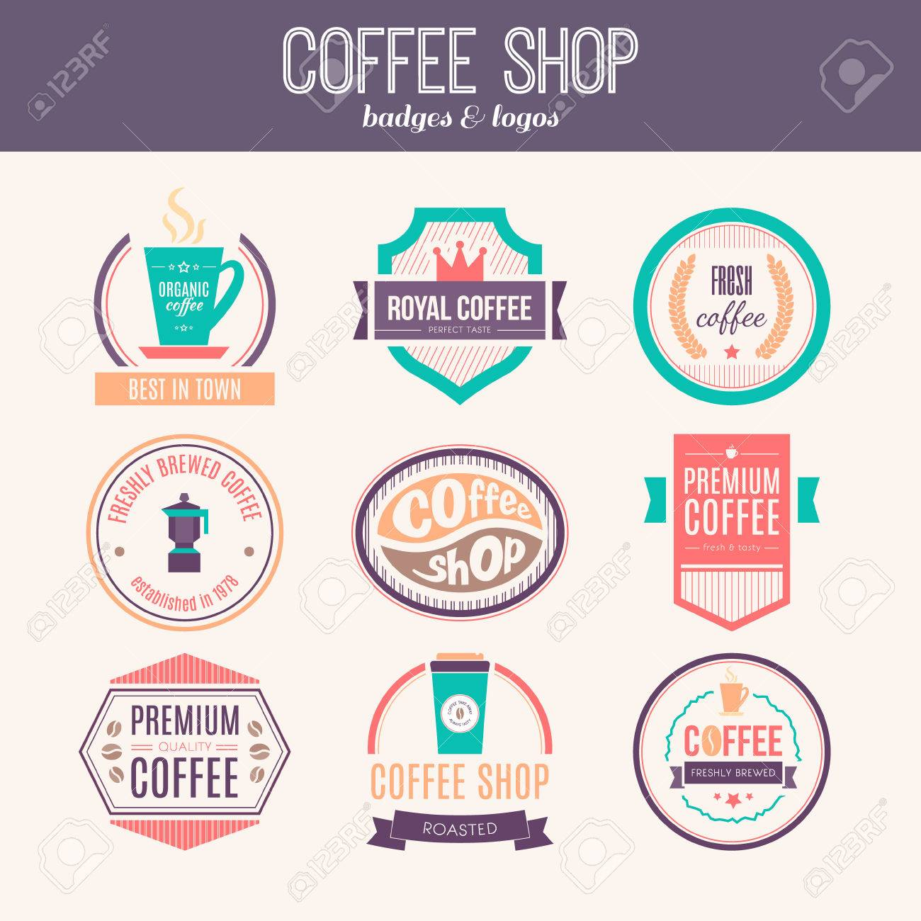 Vector Set Of Coffee Shop Restaurant Or Bar Design Elements Royalty Free Cliparts Vectors And Stock Illustration Image 35270337
