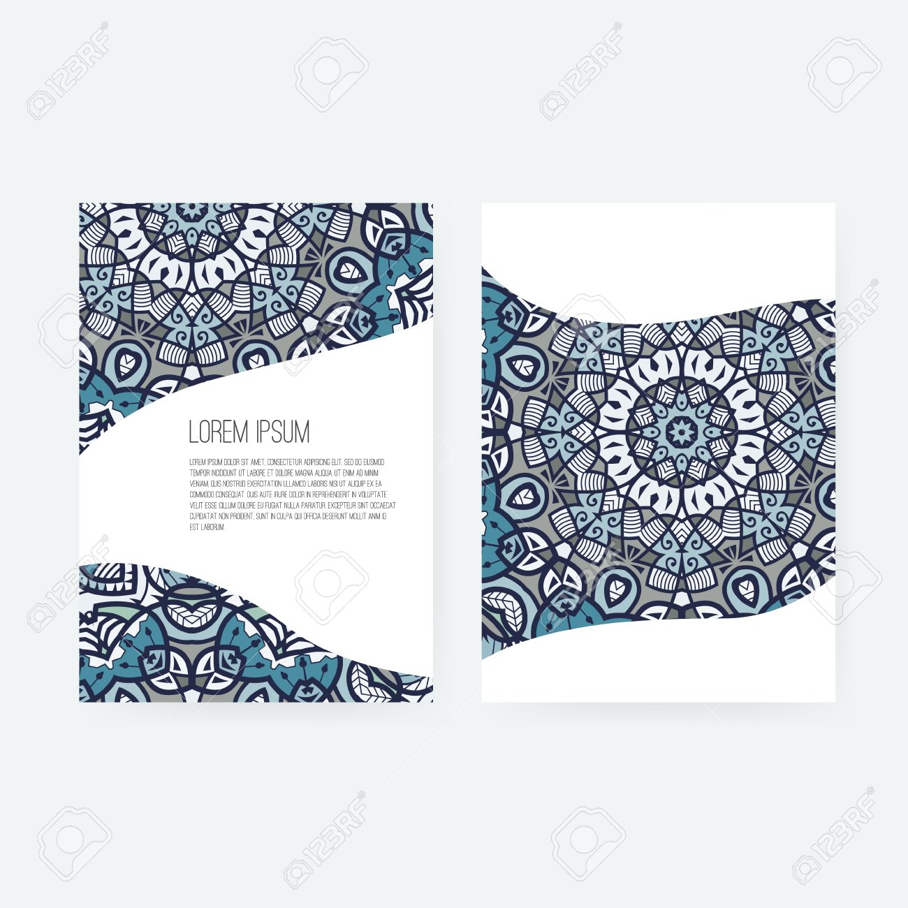 Vector greeting card design ornamental invitation template vector greeting card design ornamental invitation template arabic islamic motive vintage abstract stopboris Images