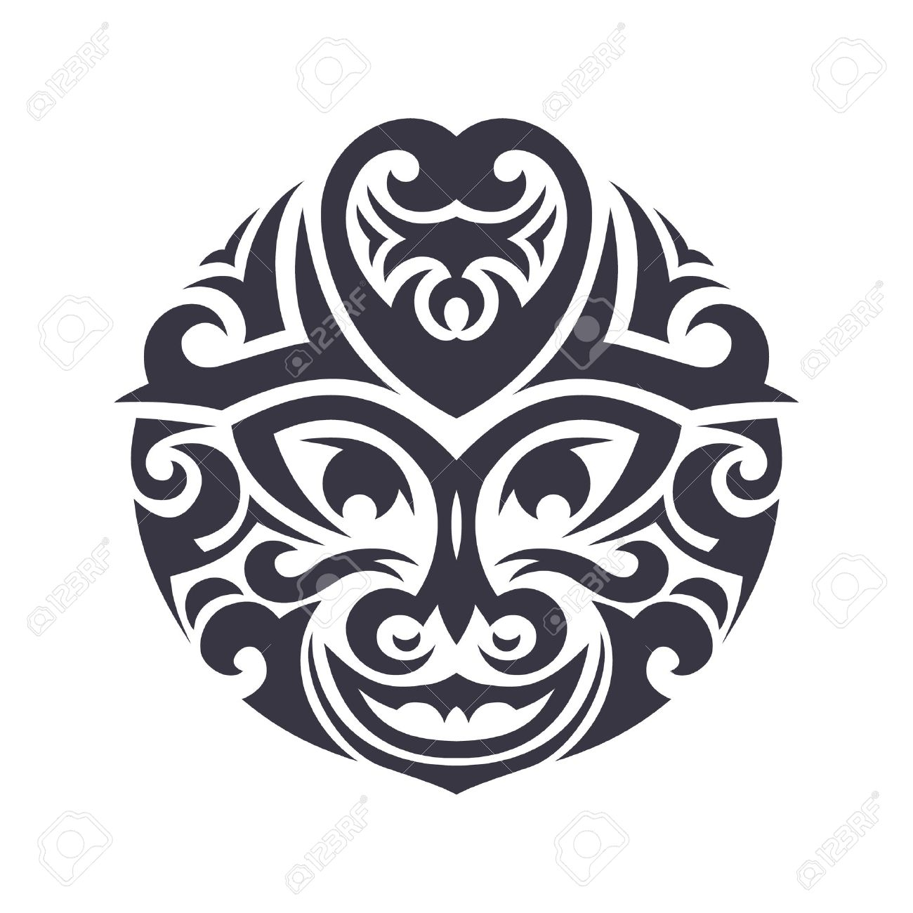 Tribal mask made in vector traditional totem symbol isolated traditional totem symbol isolated stock vector 35270911 buycottarizona Image collections