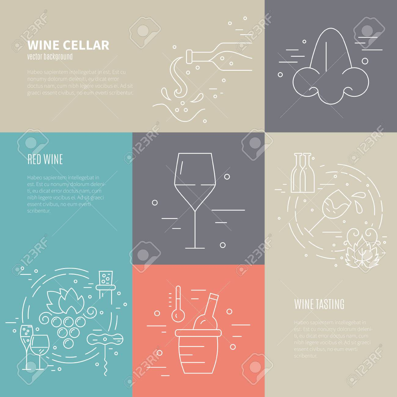 Vector concept of wine making process with different wine industry vector concept of wine making process with different wine industry symbols including glass grape biocorpaavc Gallery