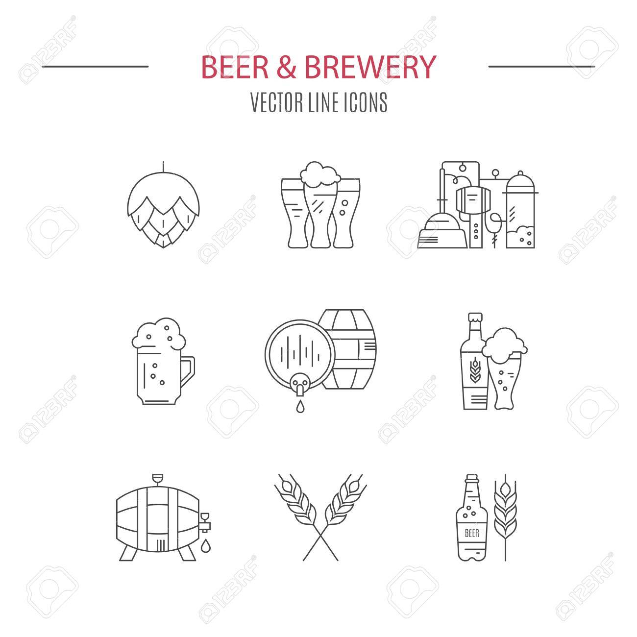Collection of brewery icons and different beer symbols for pub collection of brewery icons and different beer symbols for pub bar or other brewing related buycottarizona