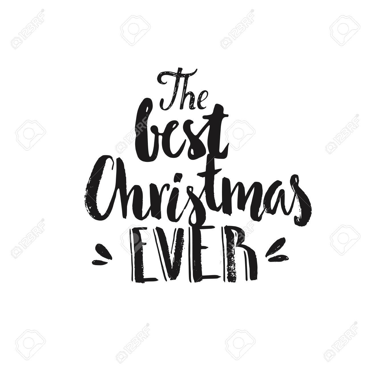 Merry Christmas Lettering Vector Clipart For Christmas Cards