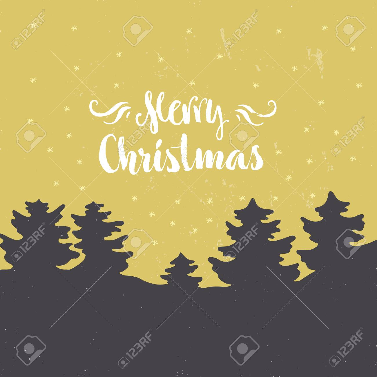 Vector Clipart For Christmas Cards And Photo Overlays With Handdrawn ...