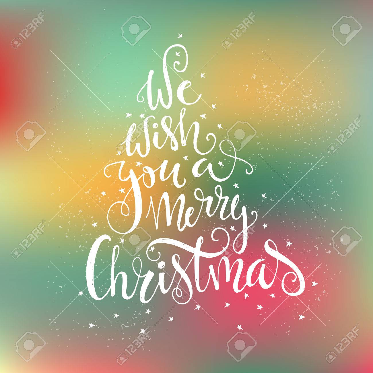 We Wish You A Merry Christmas - Quote In A Shape Of A Christmas ...