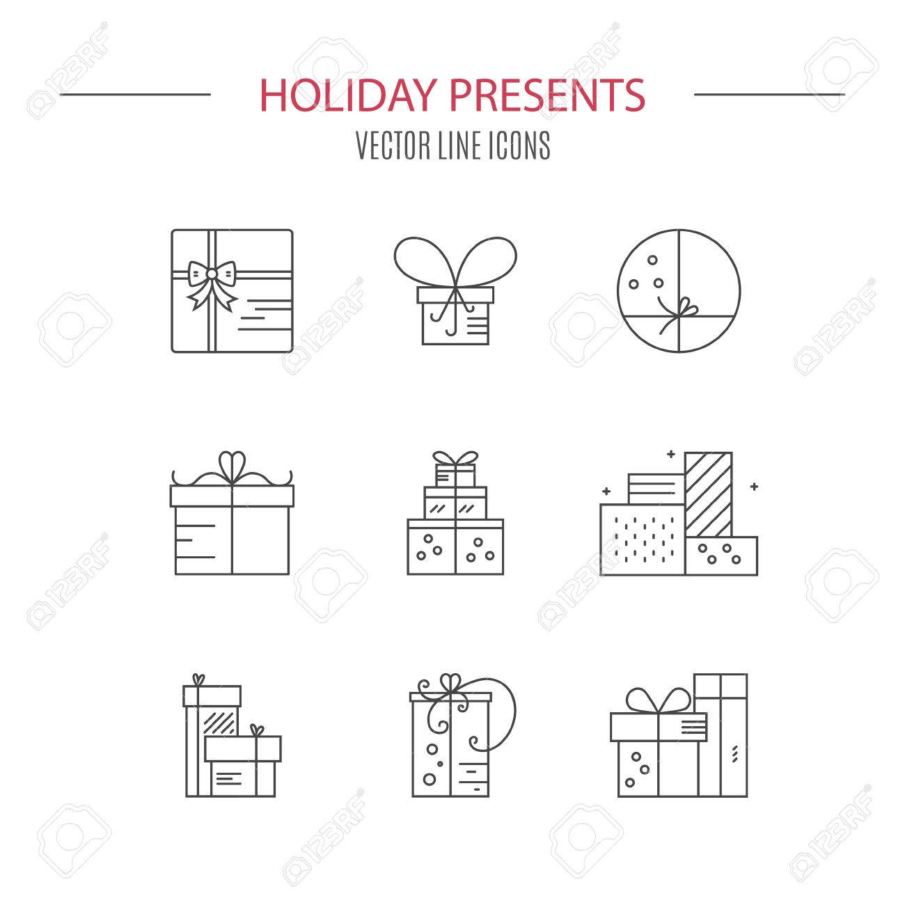 Gift box symbols vector collection design element for gift gift box symbols vector collection design element for gift shop symbol for holidays buycottarizona Gallery