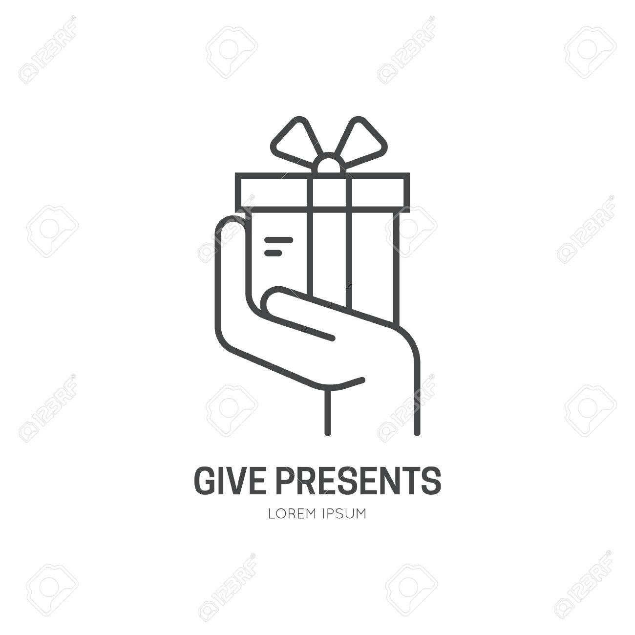Hand holding a present symbol for charity or donation event hand holding a present symbol for charity or donation event stock vector 53115839 biocorpaavc