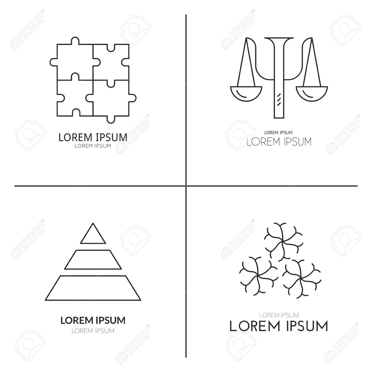 Logo Collection With Psychology Symbols Perfect Template For