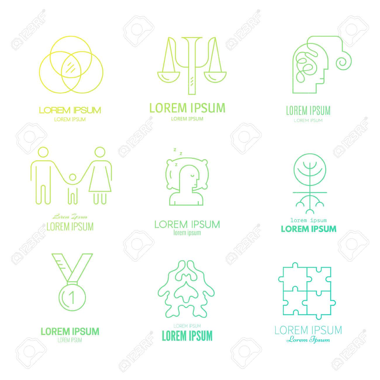 Collection Of Logo Templates For Psychology And Counseling ...