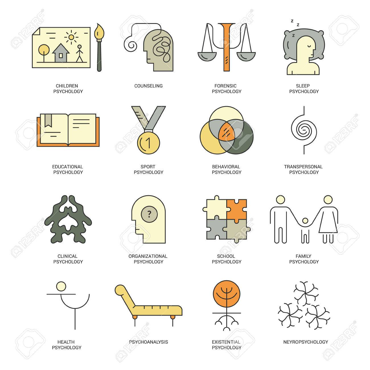 Therapist And Counseling Process Symbols Modern Pictogramm