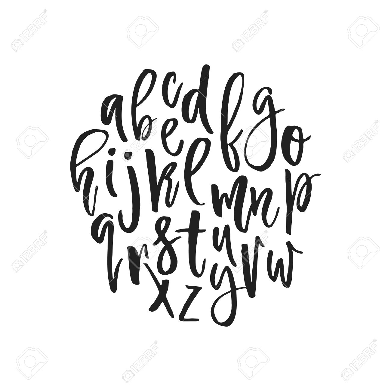 Unique Vector Alphabet. Modern Calligraphy Font. Vector Letters ...