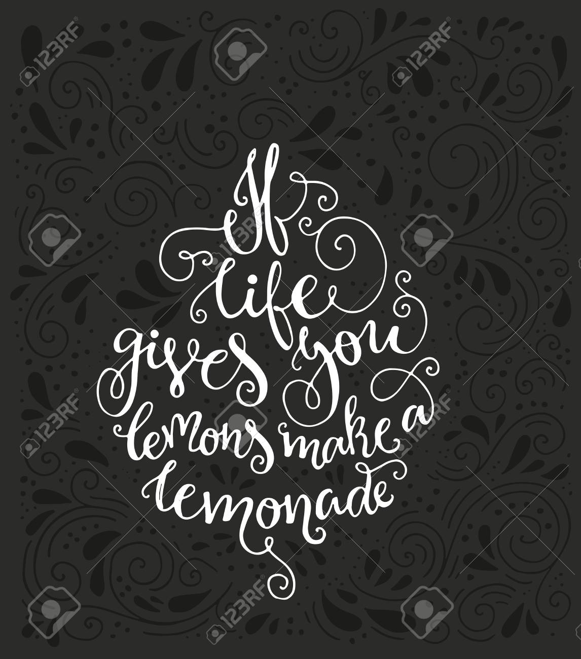 Vintage poster if life gives you lemons make a lemonade with various vintage poster if life gives you lemons make a lemonade with various decorations unique handdrawn lettering can be used for bag design poster greeting m4hsunfo