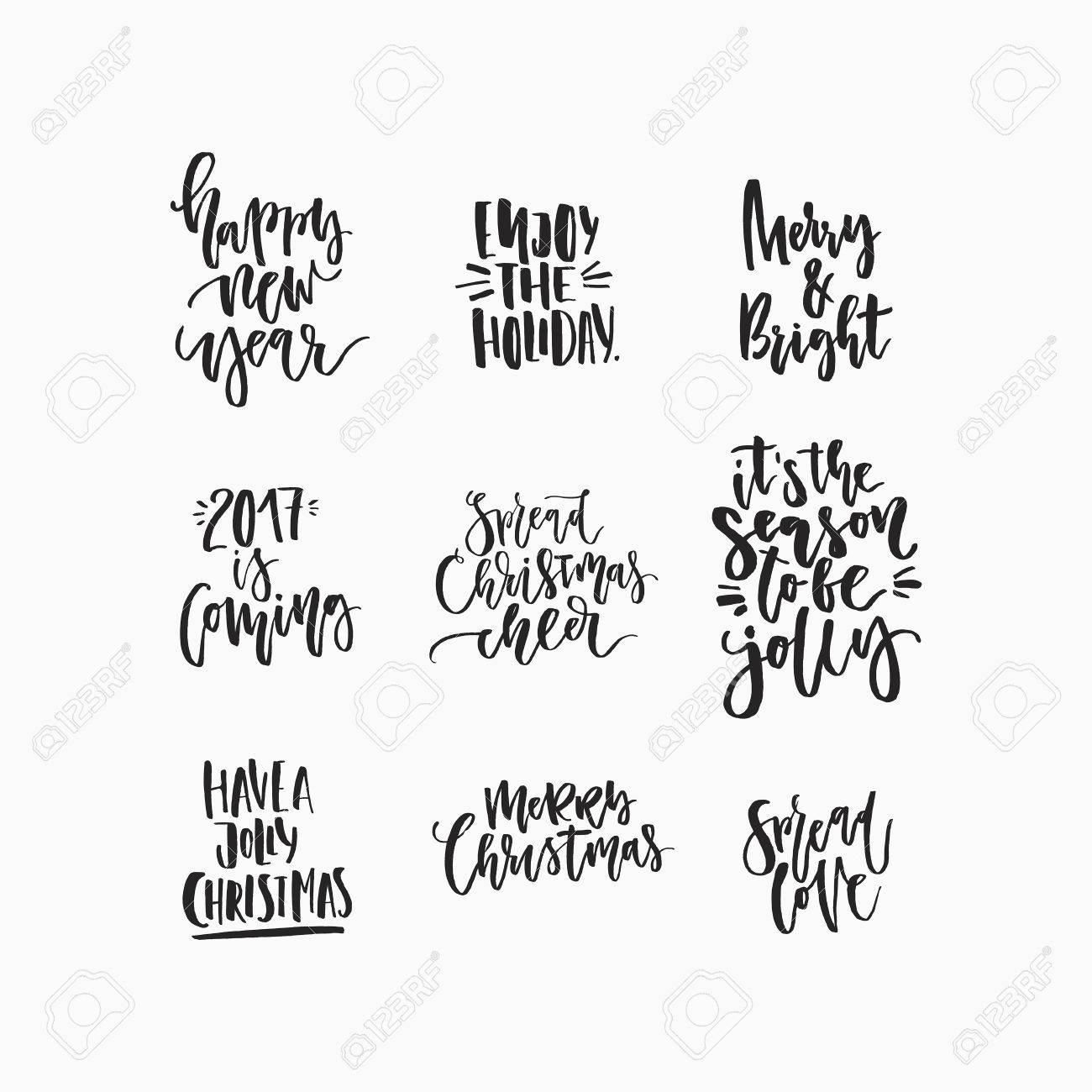 Immagini Natalizie Per Biglietti Di Auguri.Meravigliosi Auguri Di Natale Scritti A Mano Per Fantastici Biglietti Di Auguri Natalizi Lettering Disegnato A Mano Elementi Di Design Di Carta Di