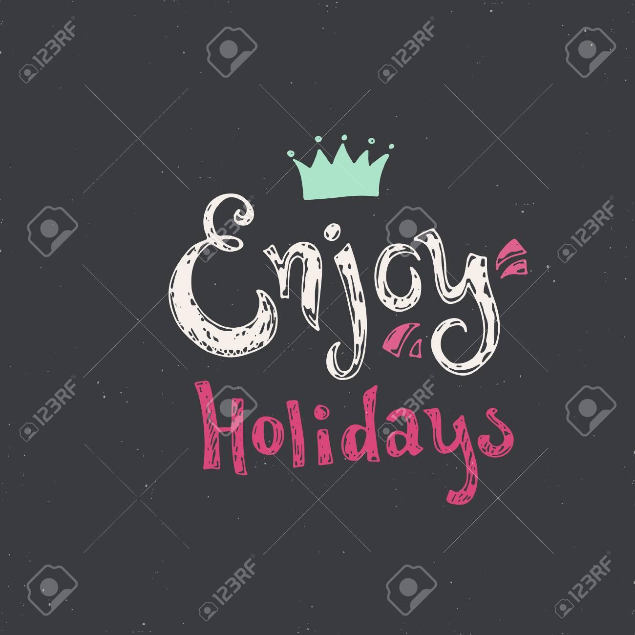 Enjoy Holidays Merry Christmas Card Or Holiday Greetings Design