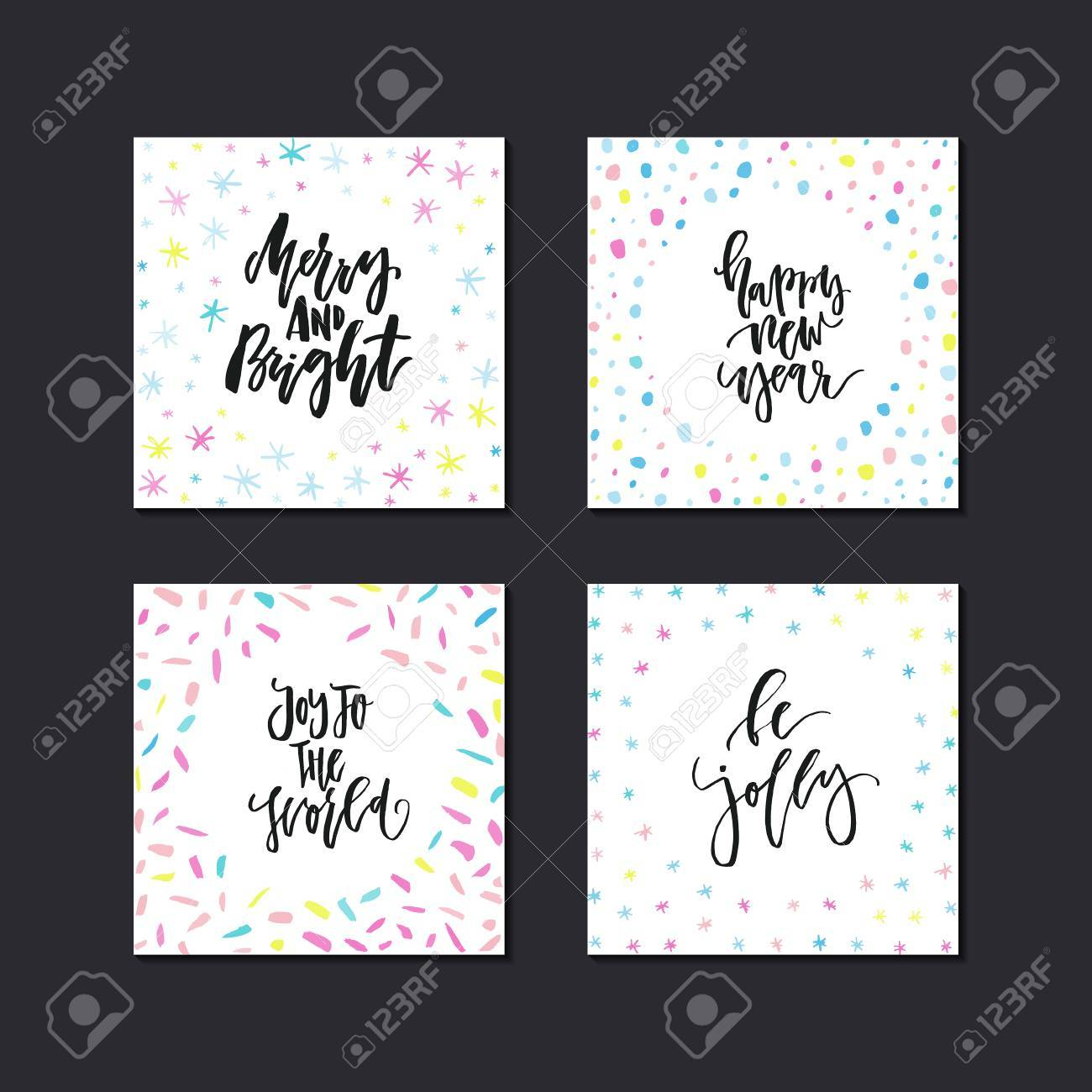 Unique Holiday Greeting Card Collection With Quotes. Christmas ...