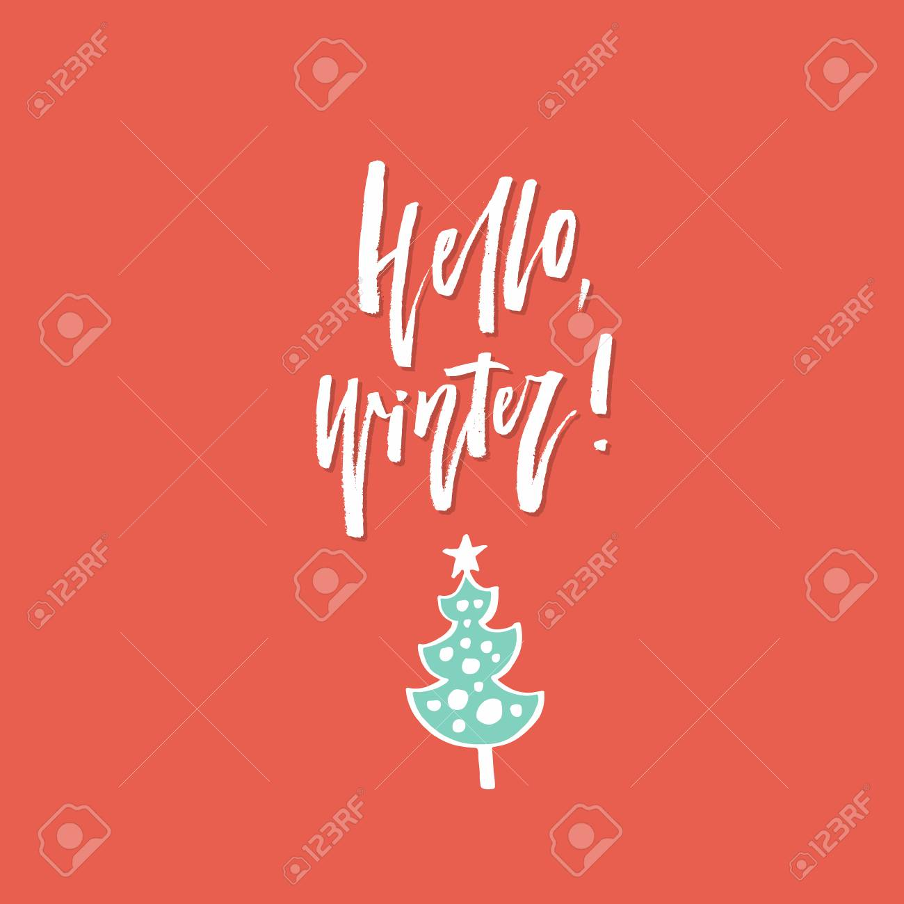 イラストや文字で簡単なクリスマス カードのデザイン休日シリーズの