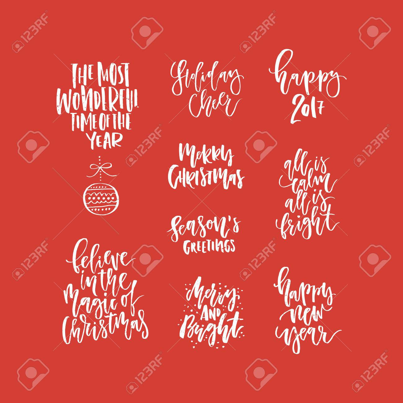 Christmas lettering collection unique handdrawn phrases for christmas lettering collection unique handdrawn phrases for christmas and new year invitations and greeting cards kristyandbryce Choice Image
