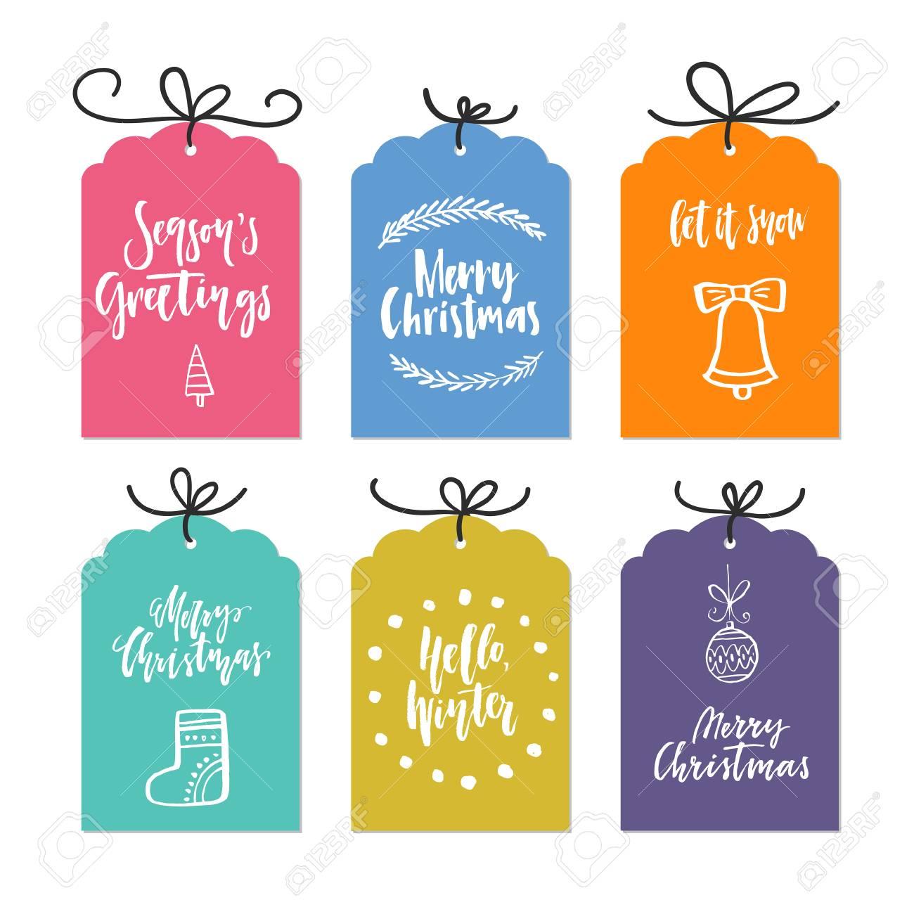 Gran Colección De Plantillas De Tarjeta única Navidad O Año Nuevo ...