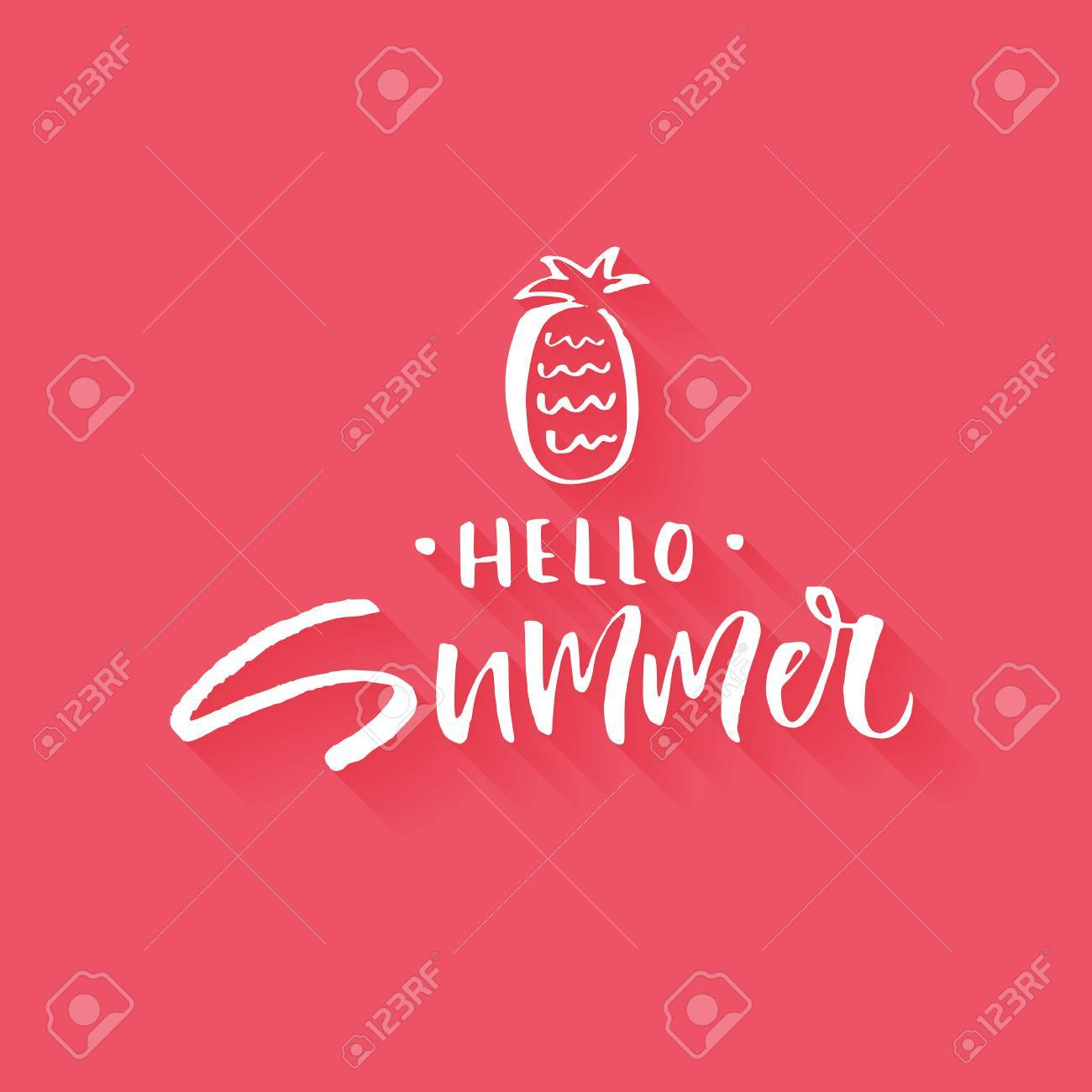 Unique hand lettering design for travel agency, summer party,