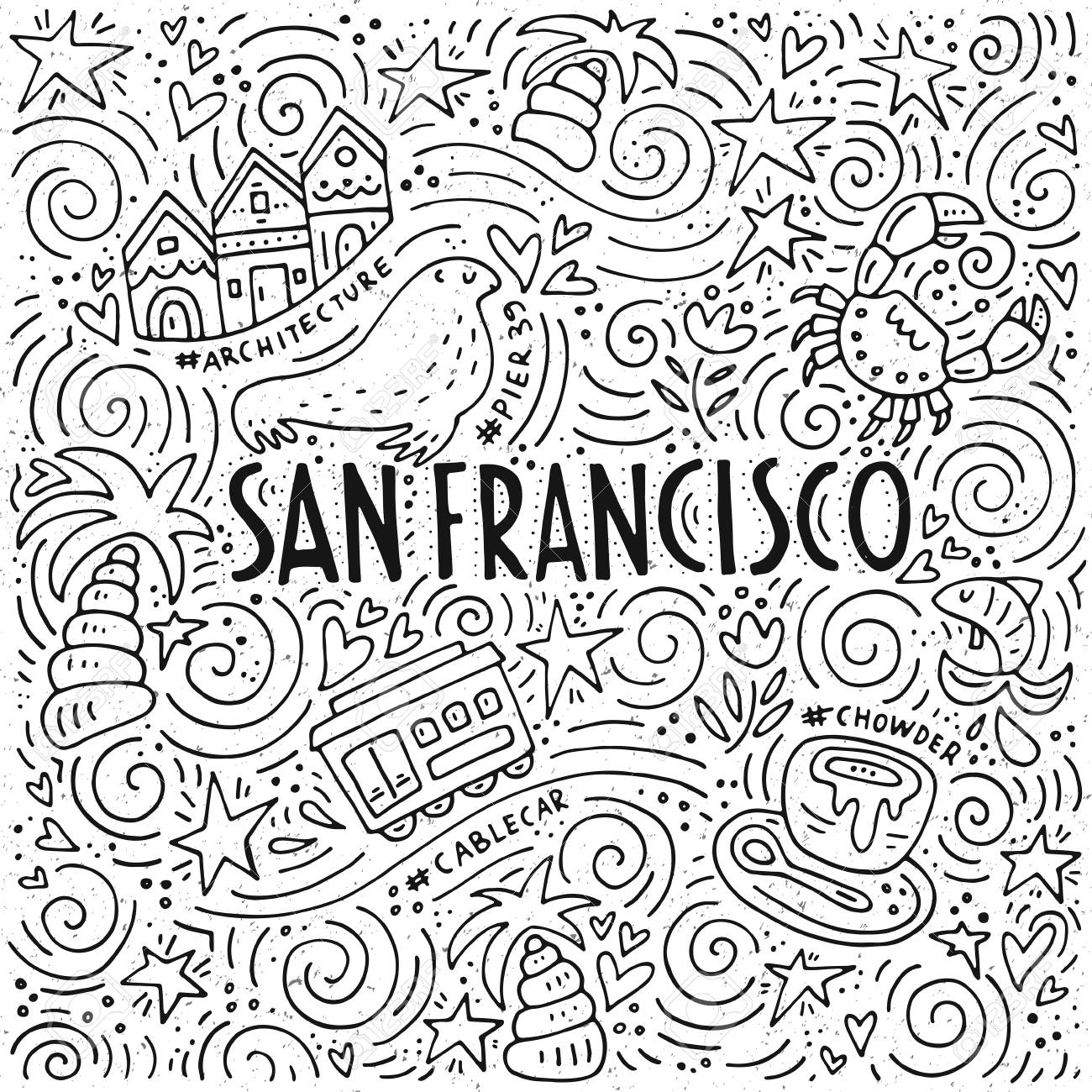 The San Francisco Words And The Different Symbols Of The City