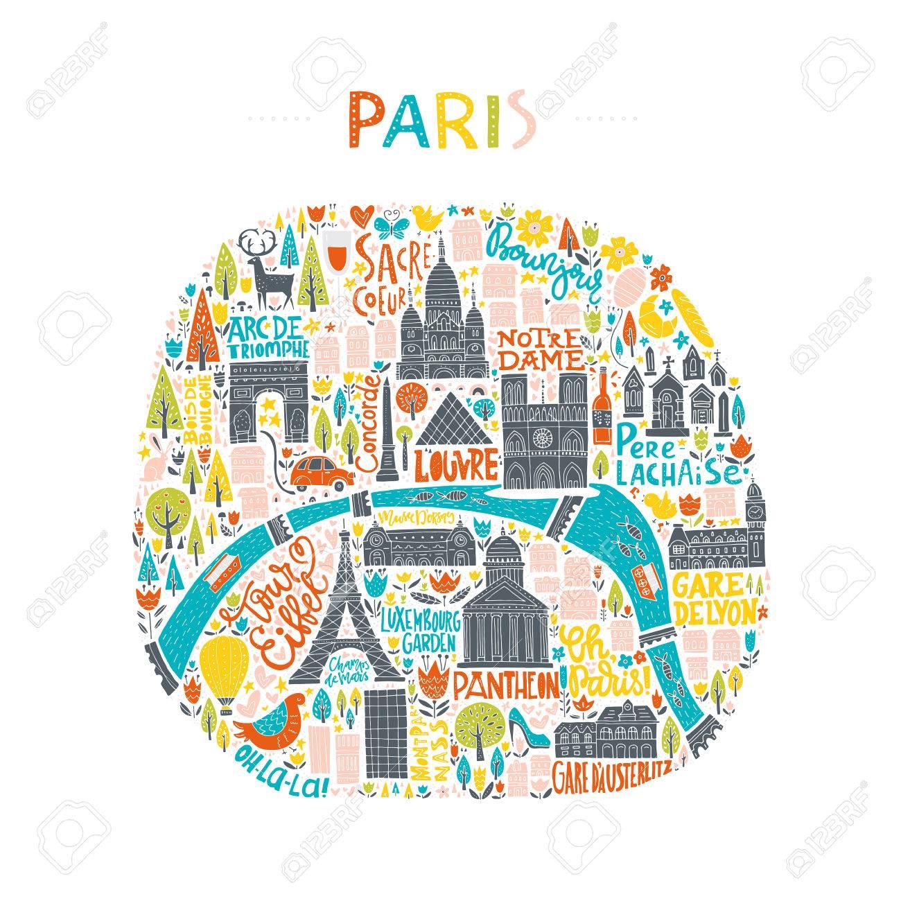 """Résultat de recherche d'images pour """"illustration paris"""""""