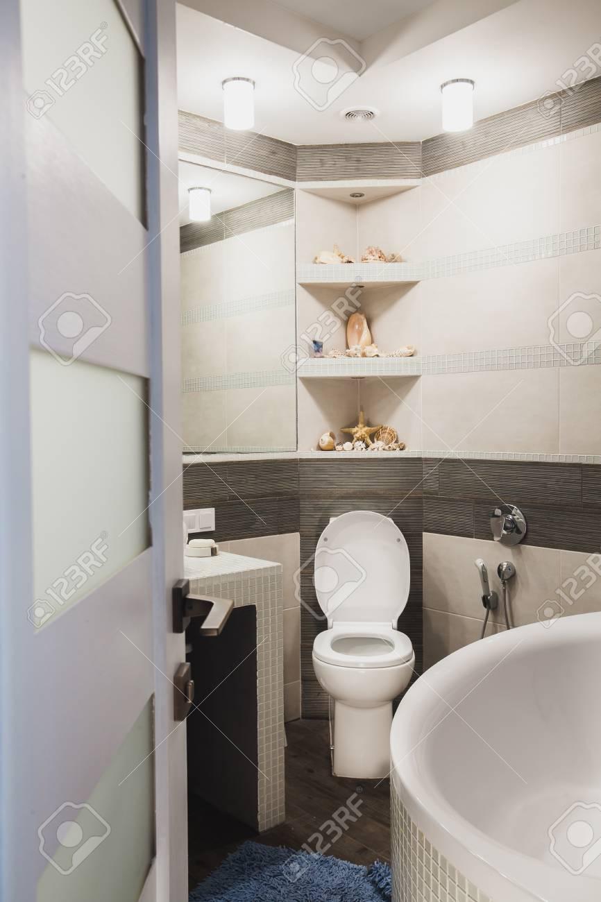 interior design of a luxury bathroom washroom with washbasin sink bathtub - Wash Basin Sink