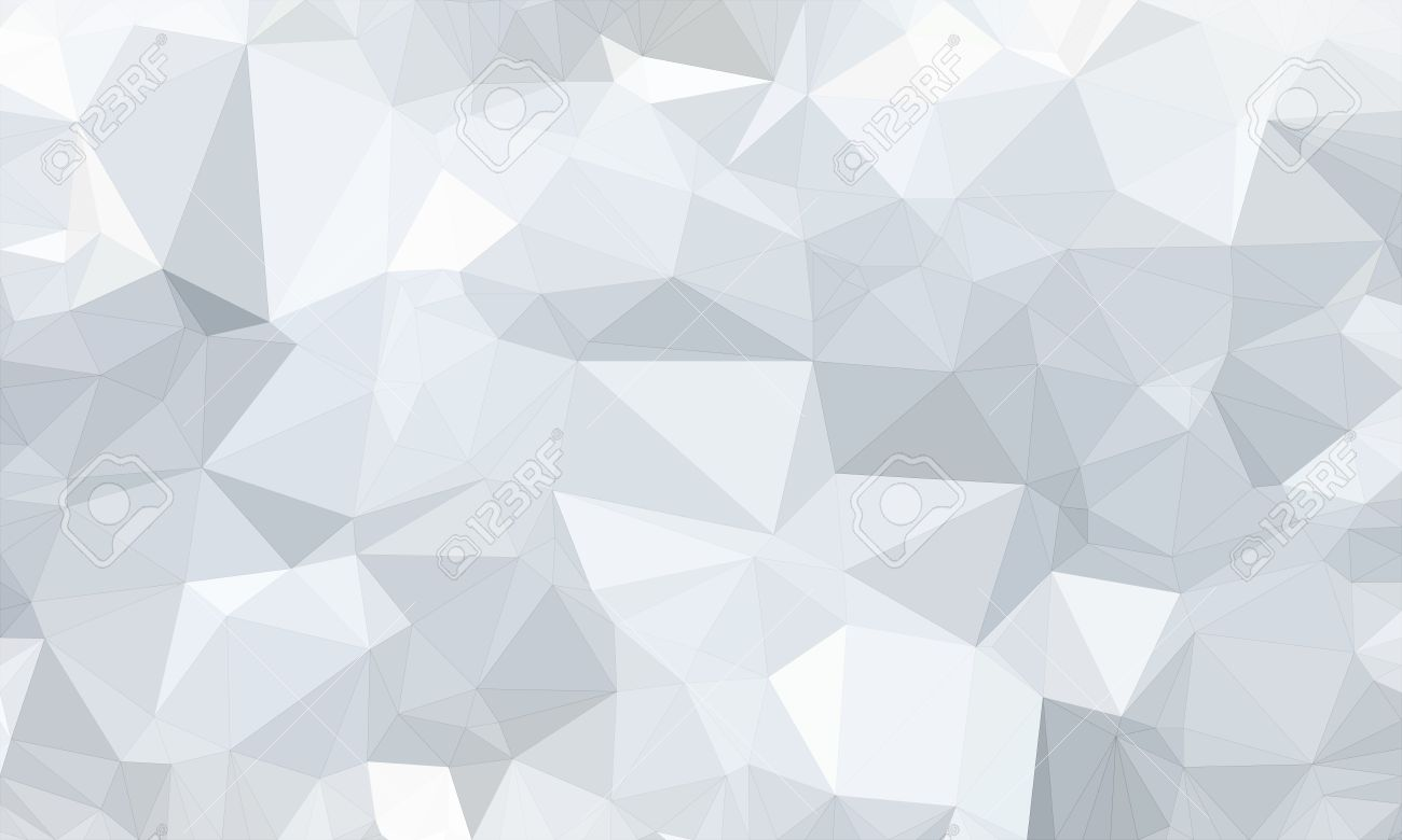Low Poly Background And Polygon In Geometric White Shape Stock Photo