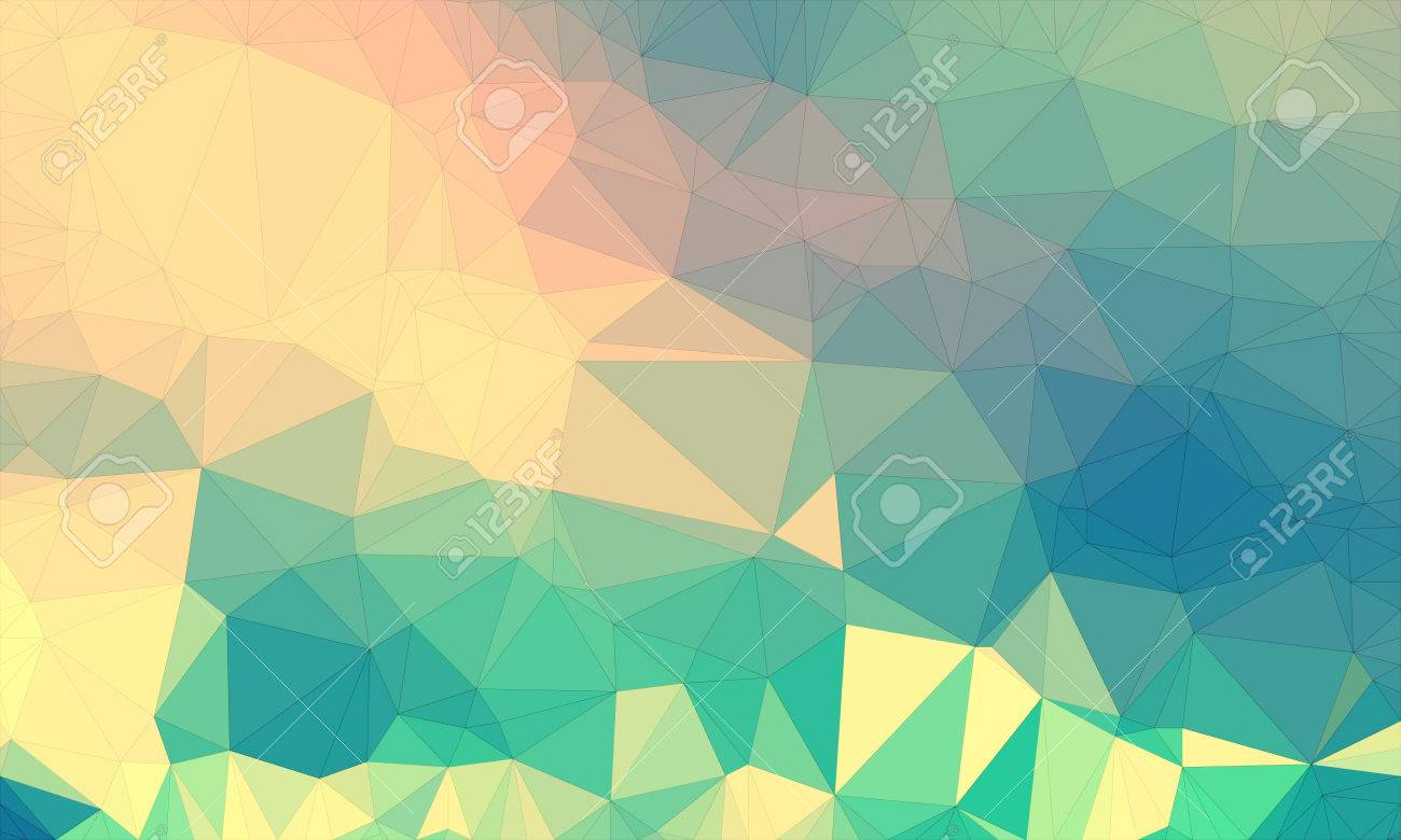 Illustration - Low poly background design in geometric pattern. polygon wallpaper in origami style. polygonal texture illustration in color yellow and green