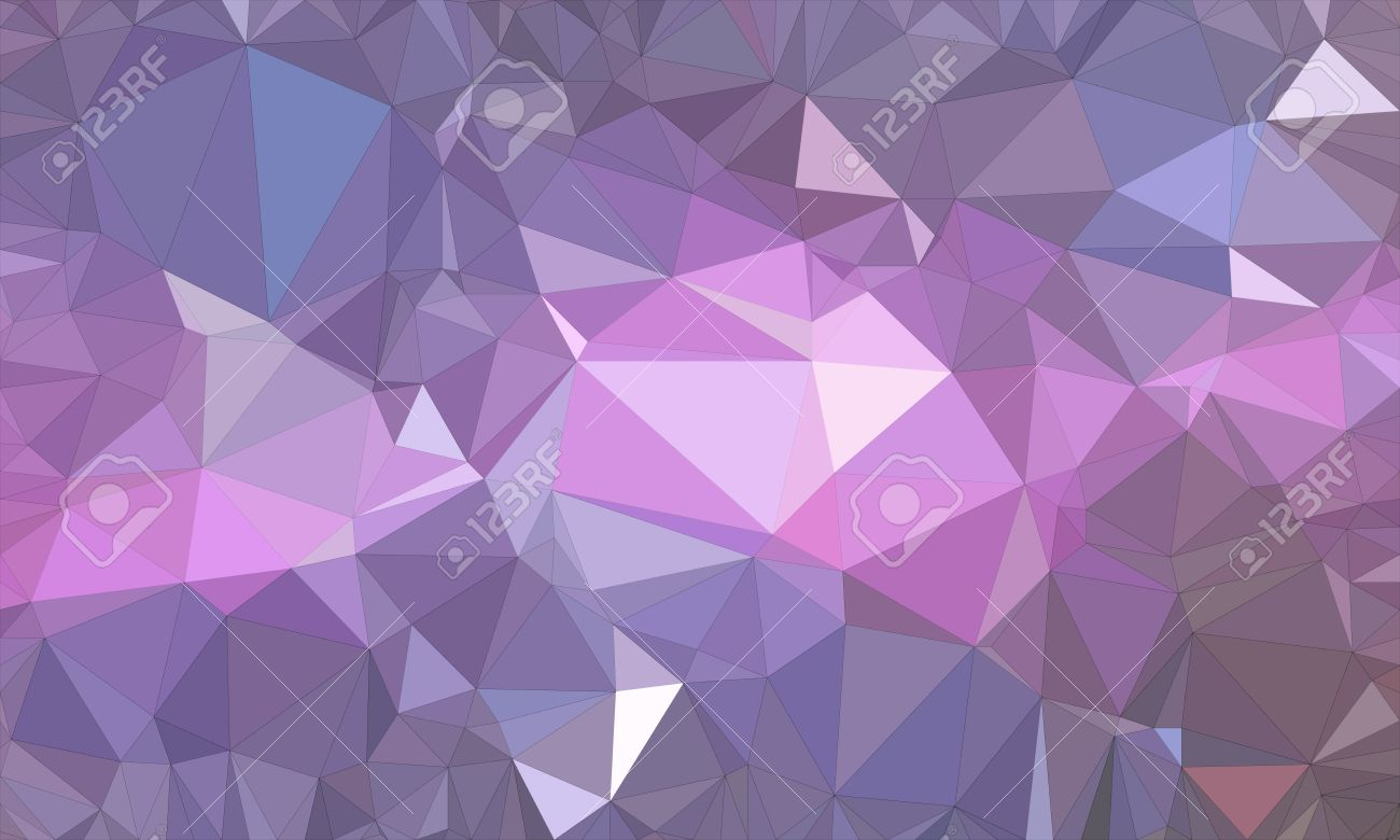 Illustration - Low poly background design in geometric pattern. polygon wallpaper in origami style. polygonal texture illustration in color dark purple and ...