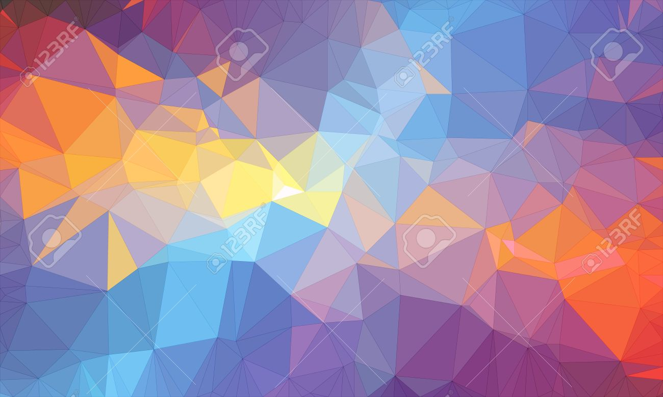 Low Poly Background Design In Geometric Pattern Polygon Wallpaper
