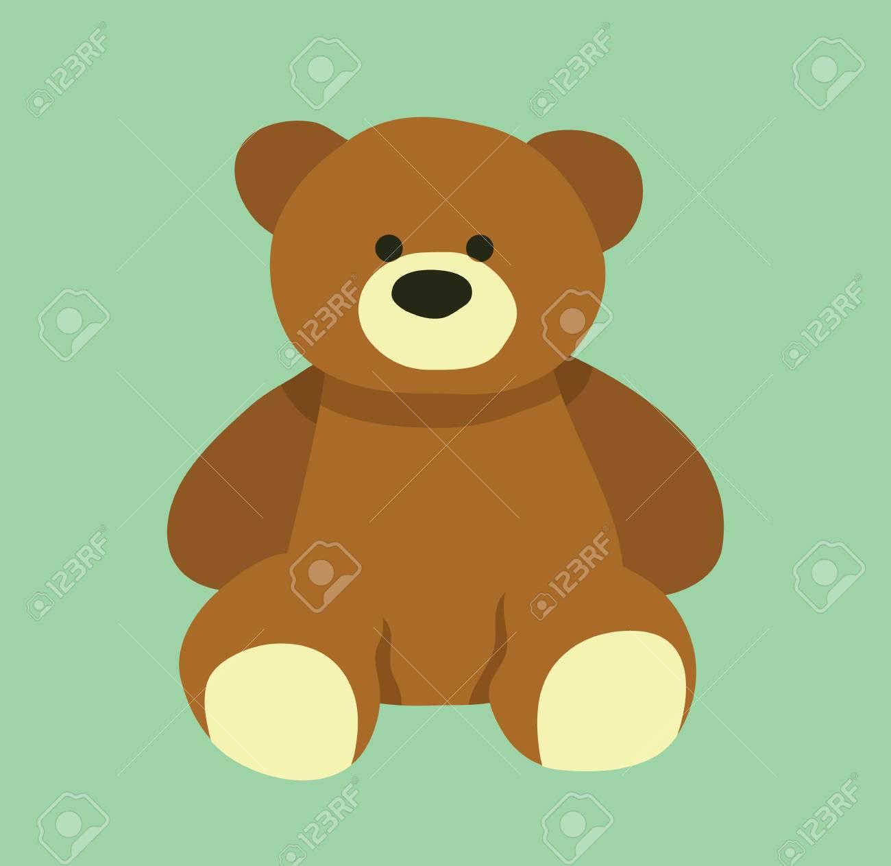 Cute Bear Design Teddy Bear Cartoon Design Vector Stock Royalty