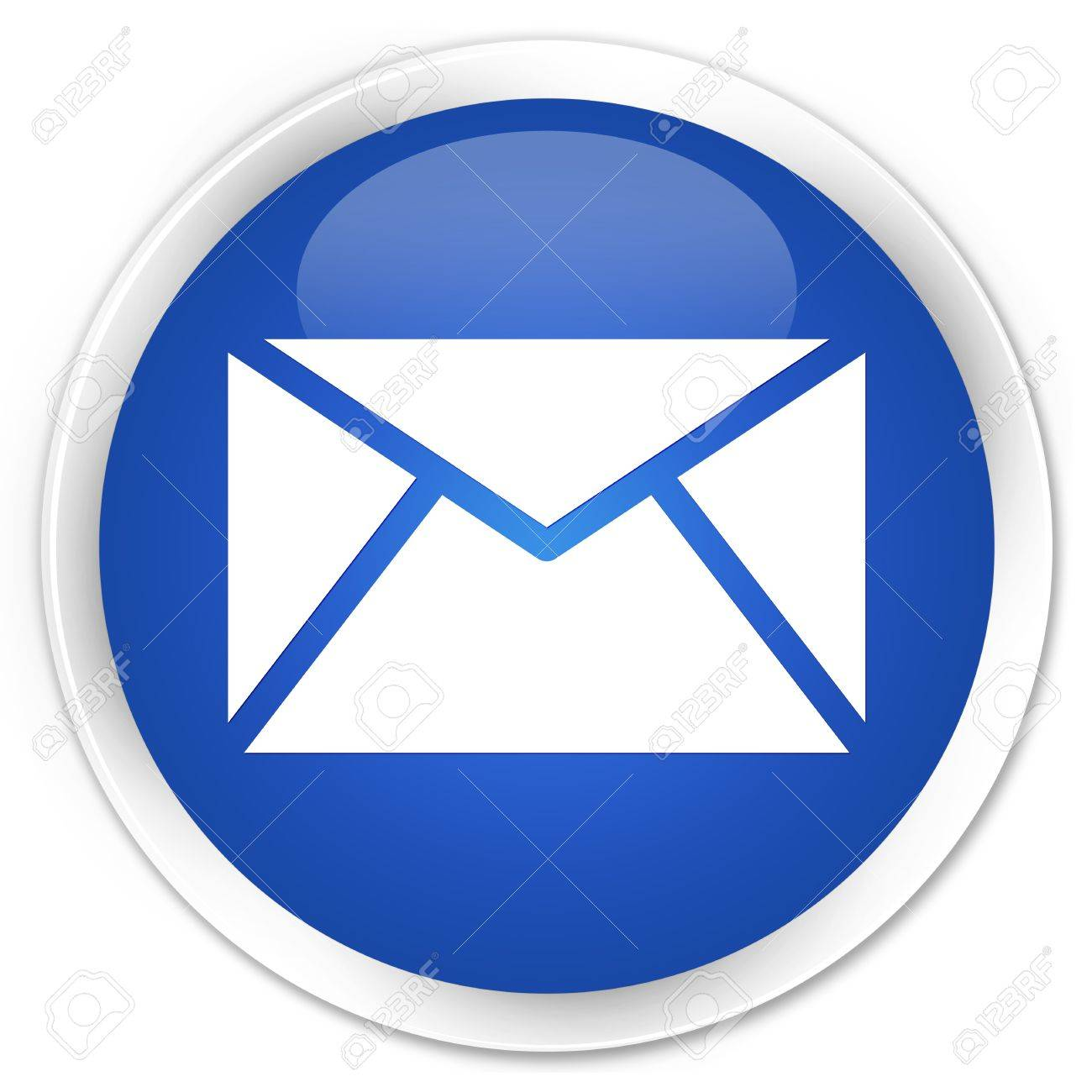 Email icon glossy blue button Stock Photo - 15843361