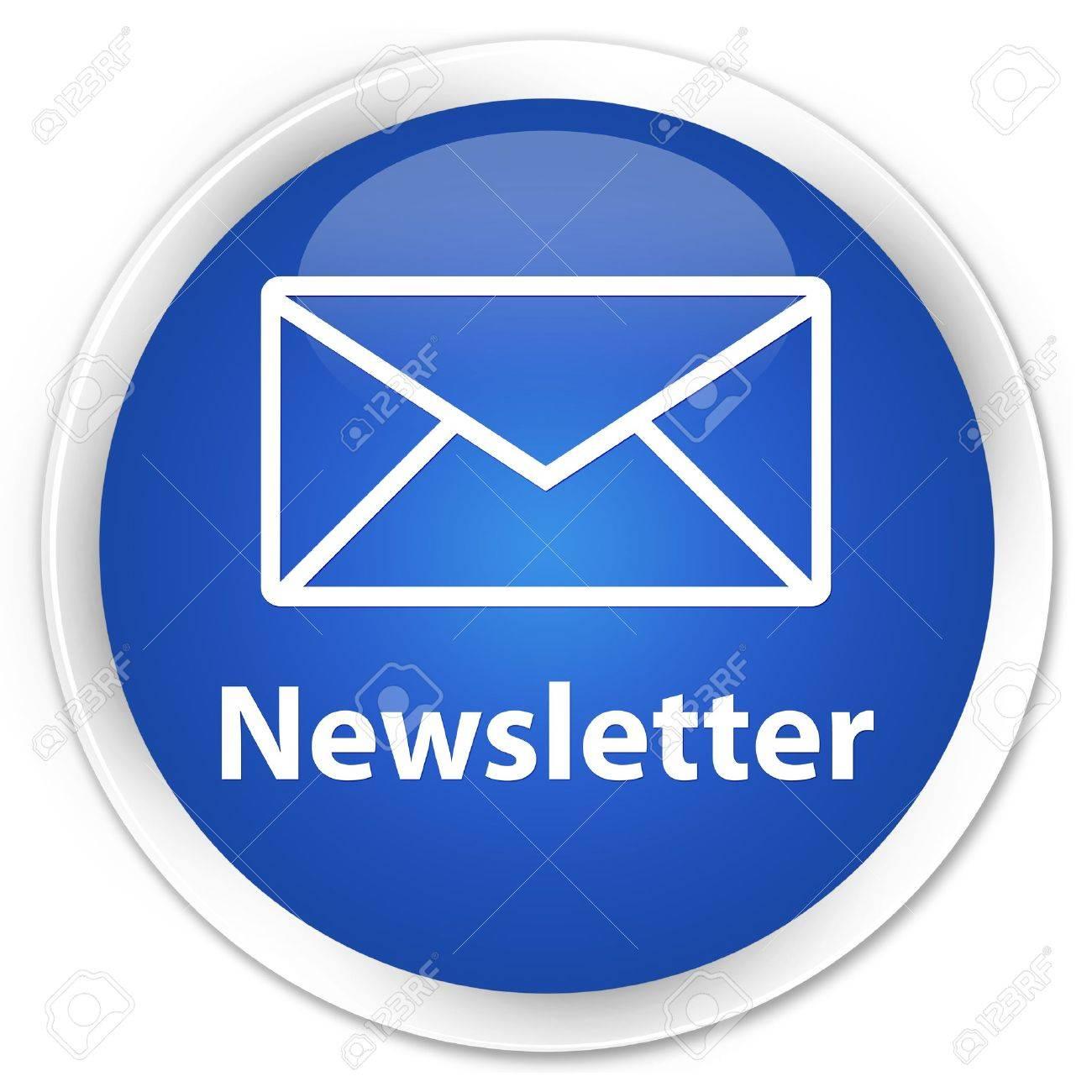 Newsletter glossy blue button Stock Photo - 15843416