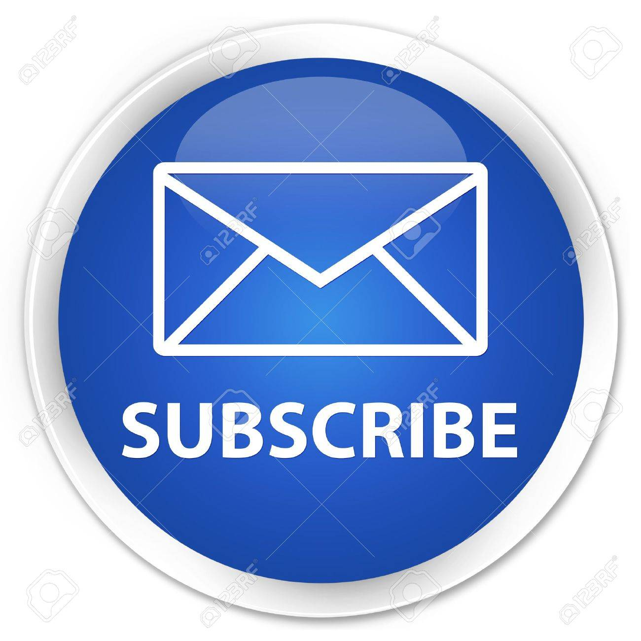 Subscribe glossy blue button Stock Photo - 15843420