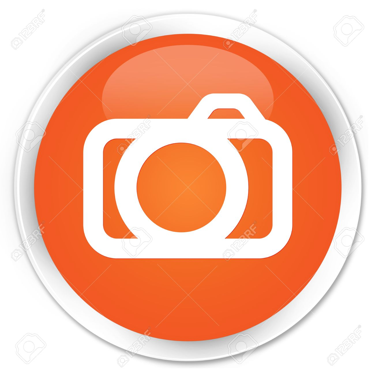 Login Buttons Icons Icon Glossy Orange Button