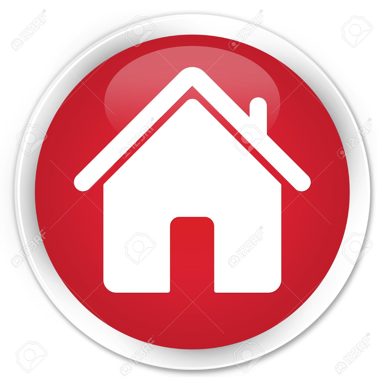 Home Icon Red Glossy Round Button Stock Photo, Picture And Royalty Free  Image. Image 35973128.