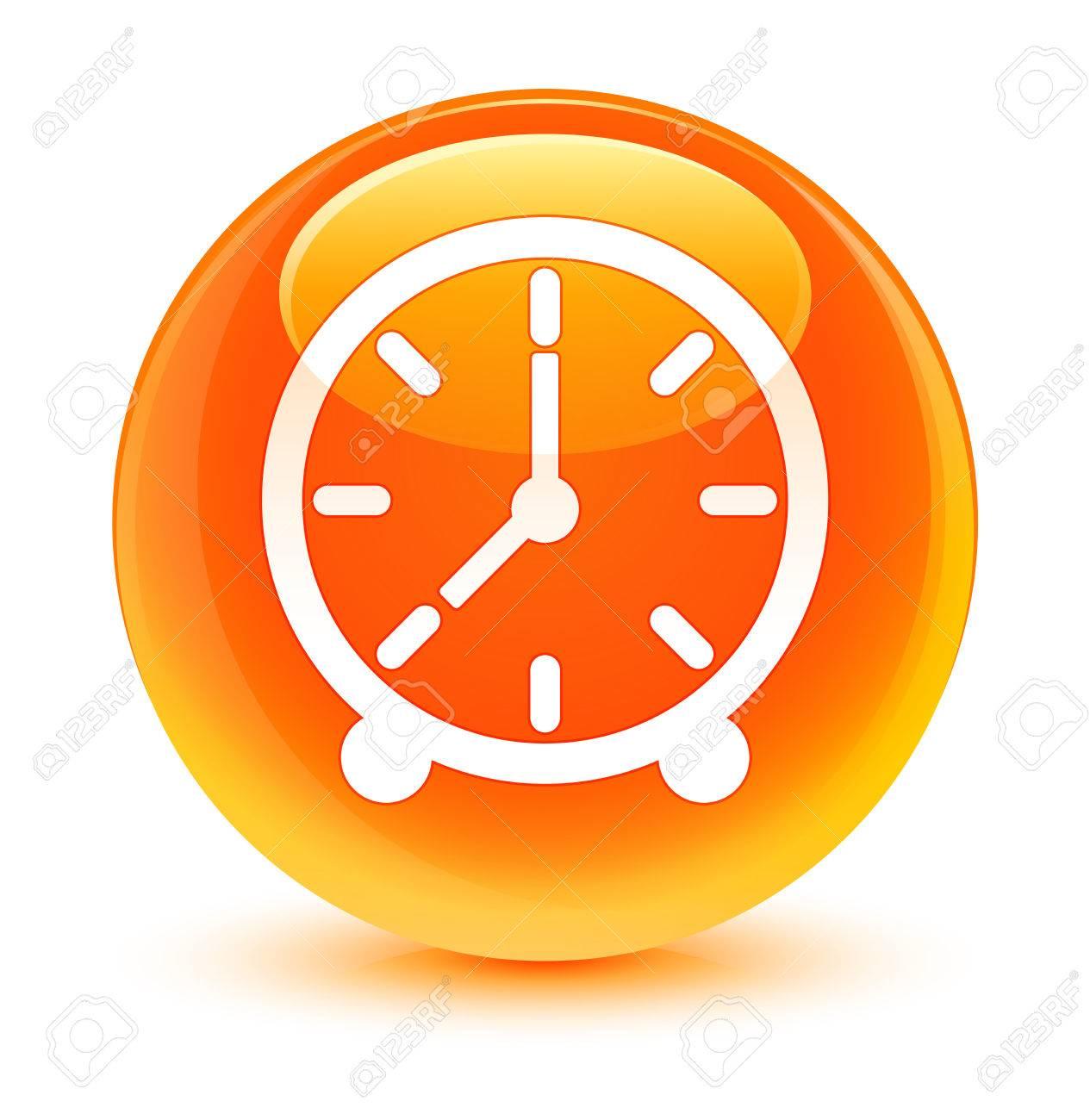 Naranja Icono Icono Botón Reloj Vidriosa EH9WD2I