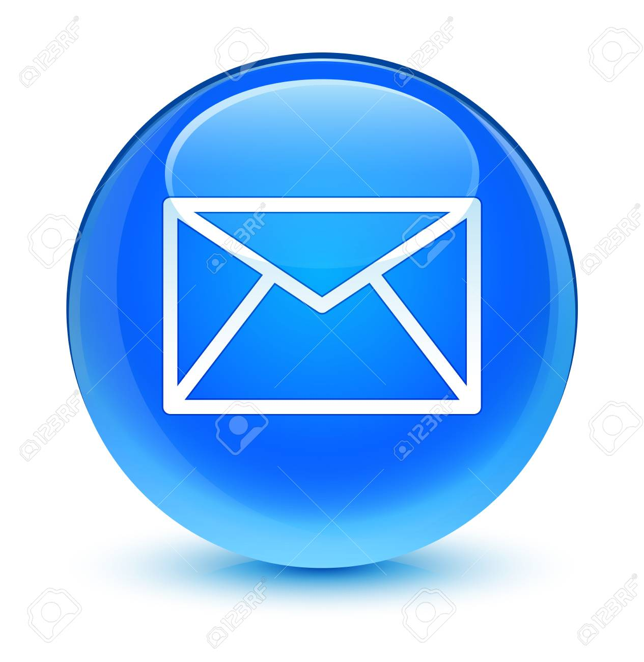 Email Icône De Bouton Bleu Vitreux Banque D'Images Et Photos ...