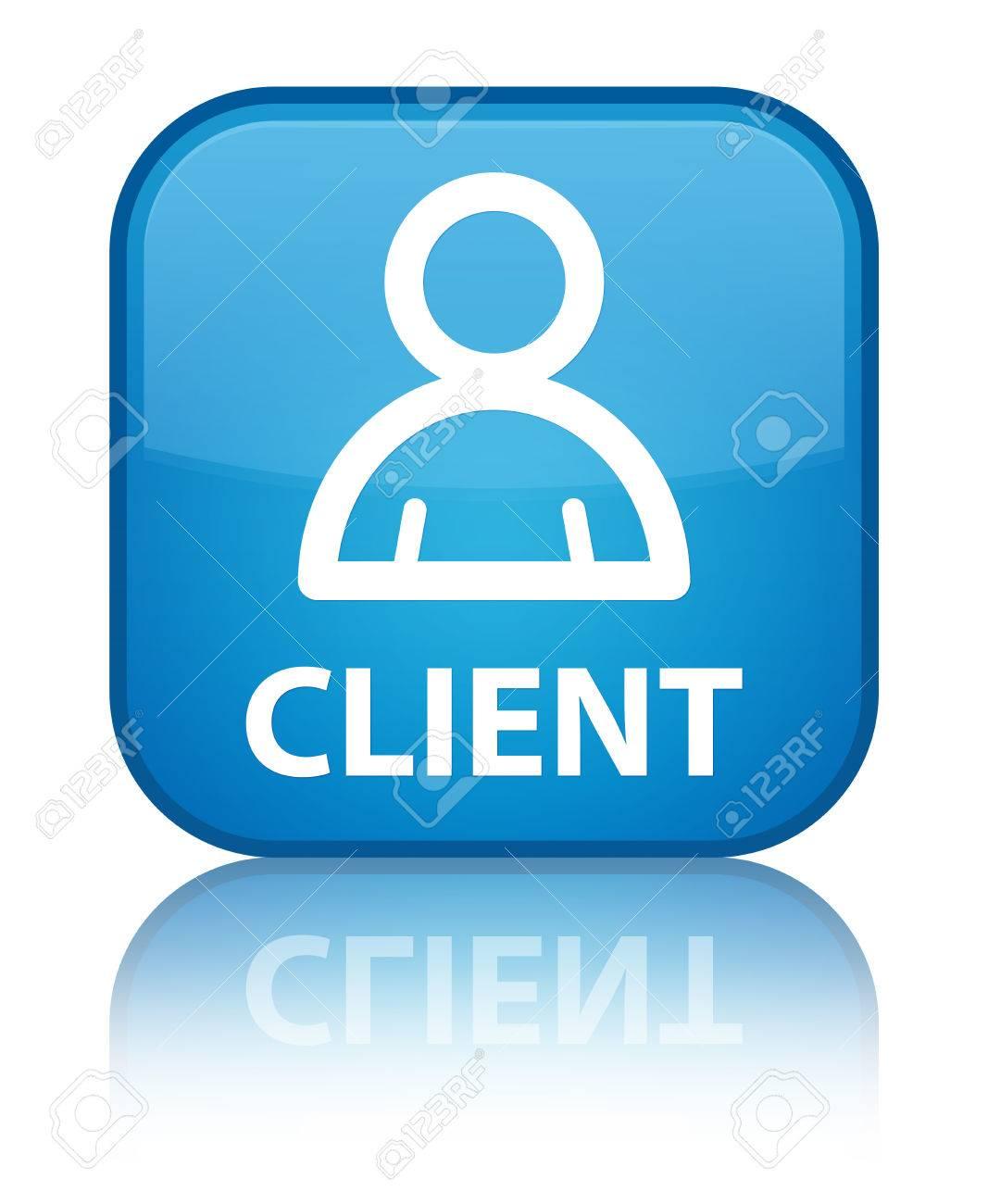 client icono miembro botón cuadrado azul cian fotos retratos