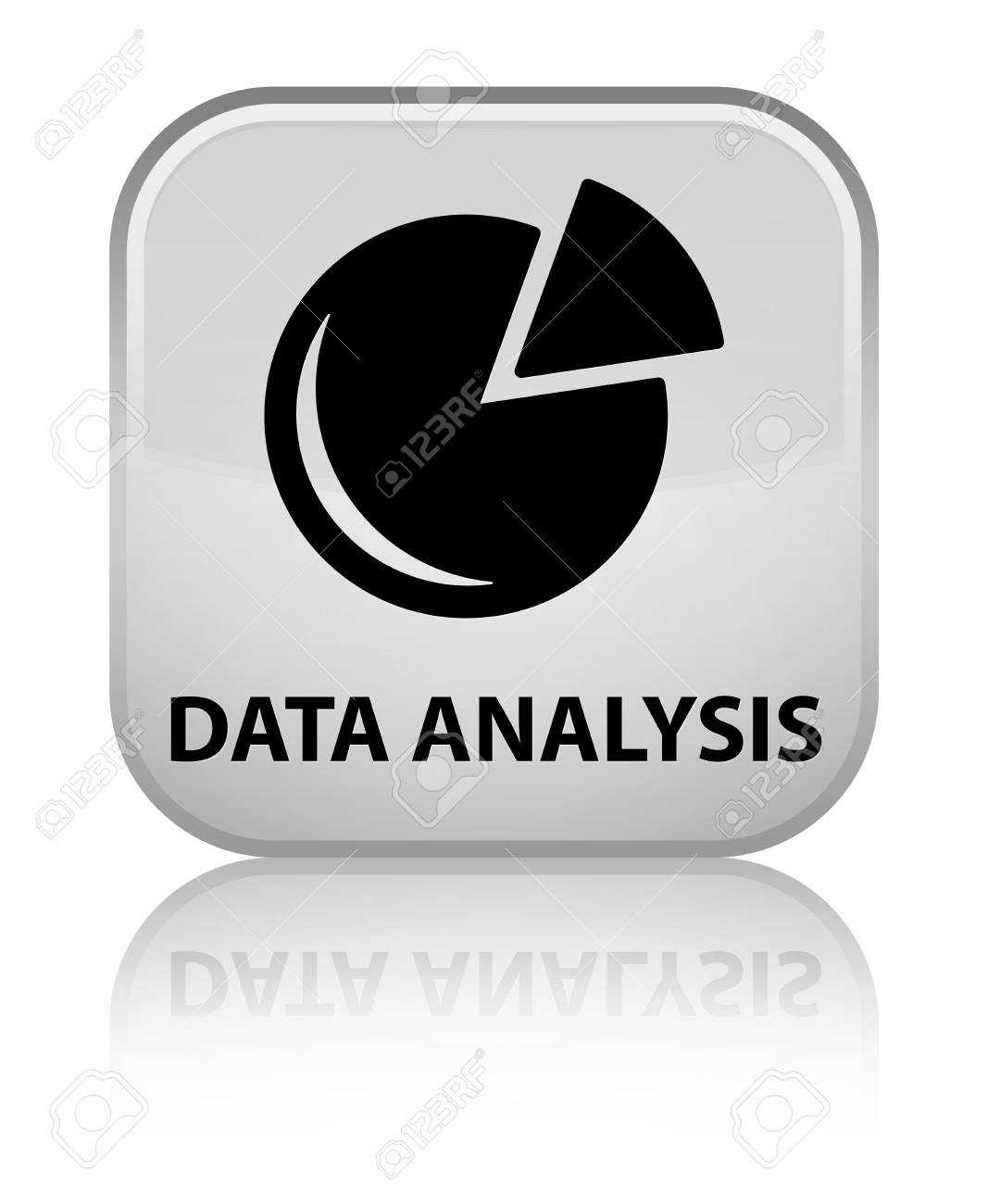 L Analyse Des Donn Es Graphique Ic Ne Du Bouton Carr Blanc Banque