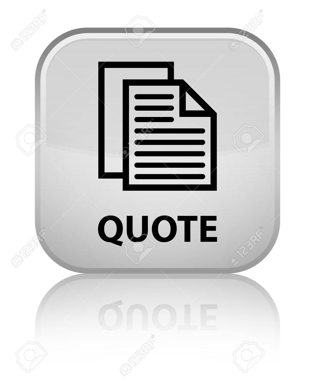 quote document pages icon white square button stock photo quote document pages icon white square button stock photo 38291826