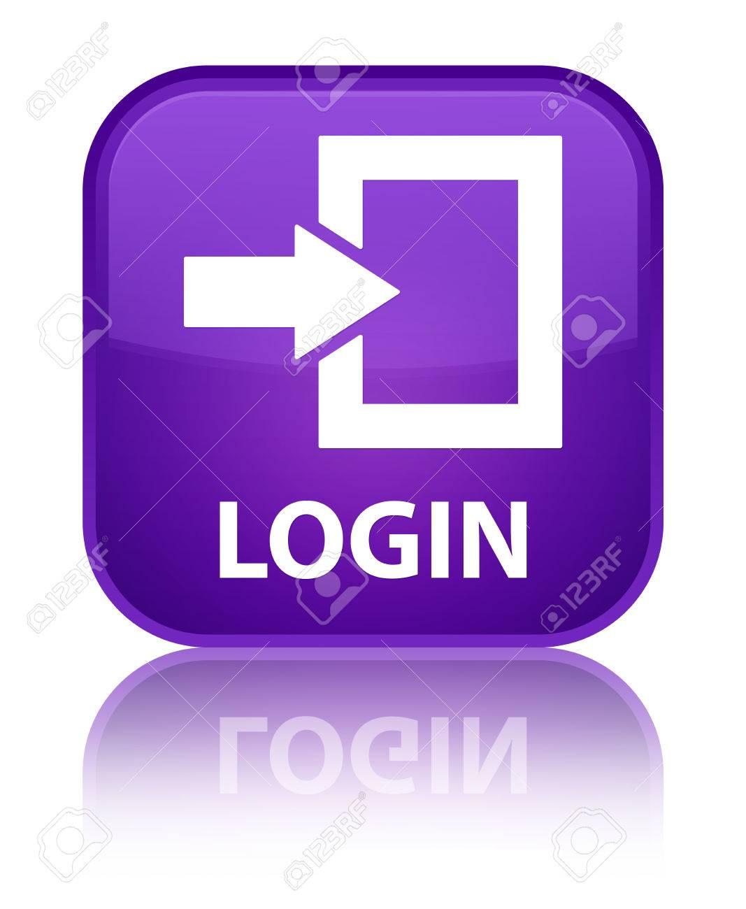 Login purple square button