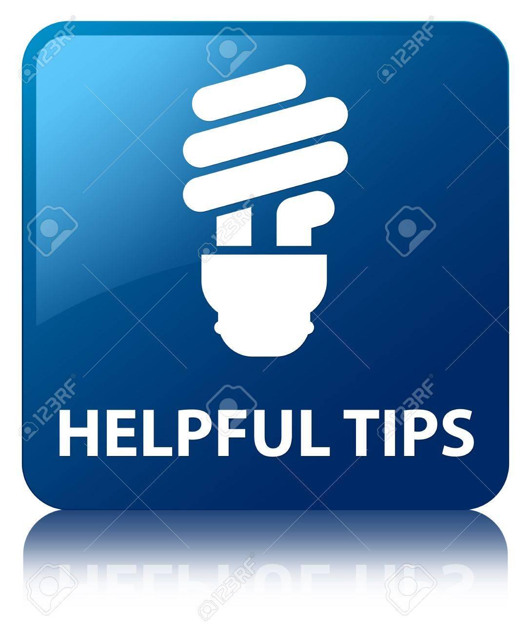 Hilfreiche Tipps (Glühbirne Symbol) Blauen Schalter Lizenzfreie ...