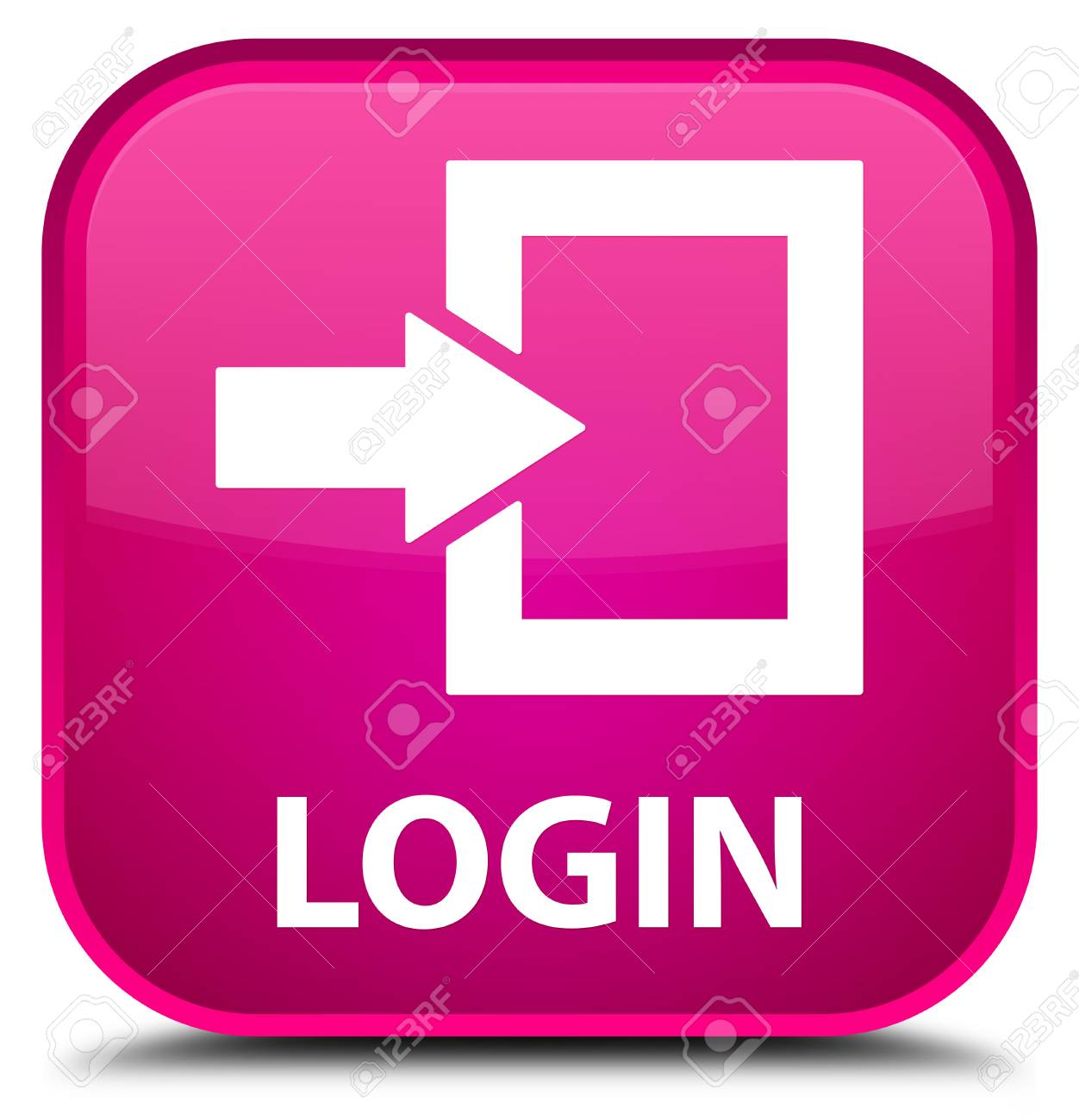 Login pink square button