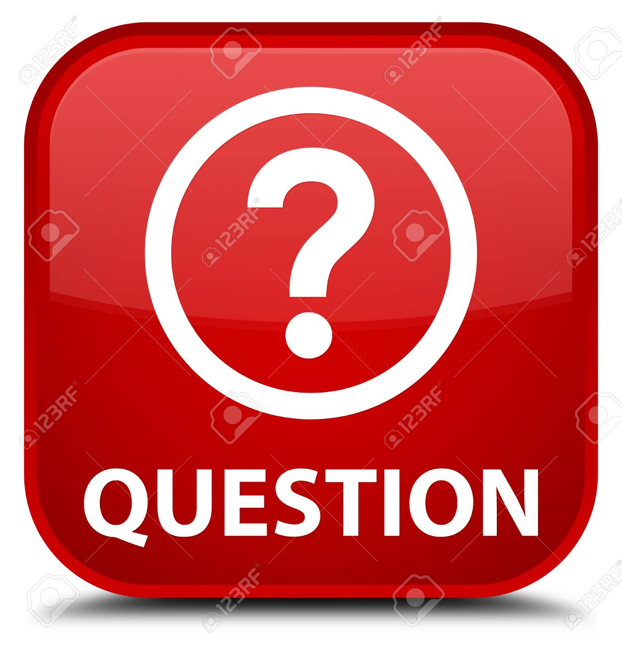 Question red square button - 56006480