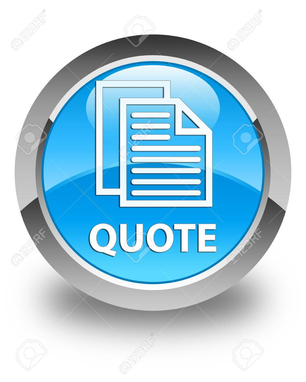 quote document pages icon glossy cyan blue round button stock quote document pages icon glossy cyan blue round button stock photo 57292568